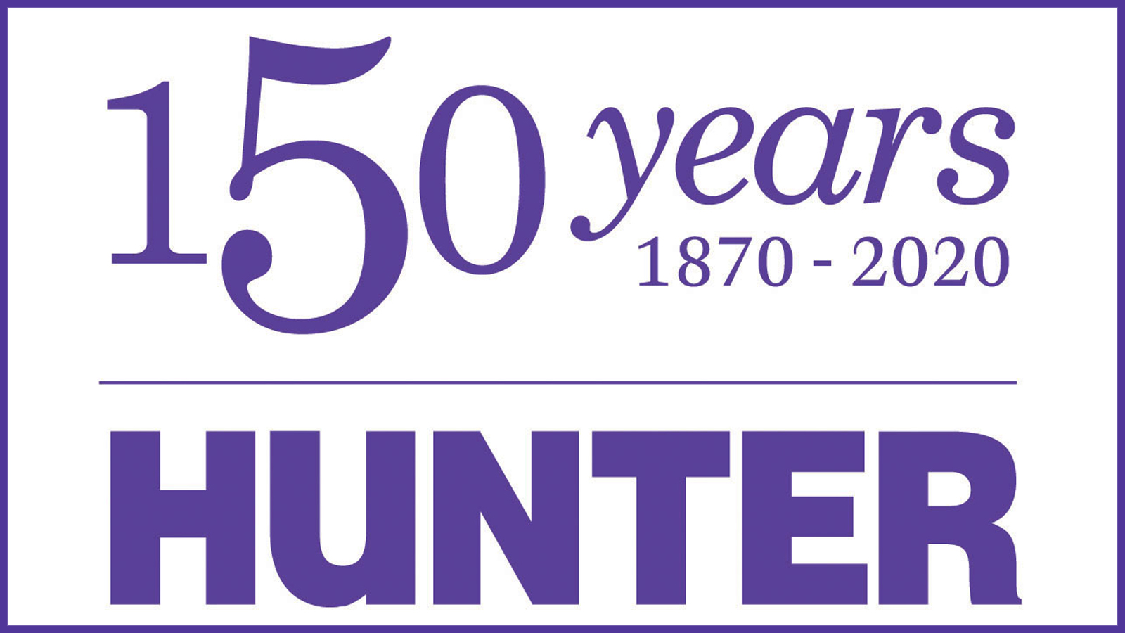 Hunter College 150th anniversary logo