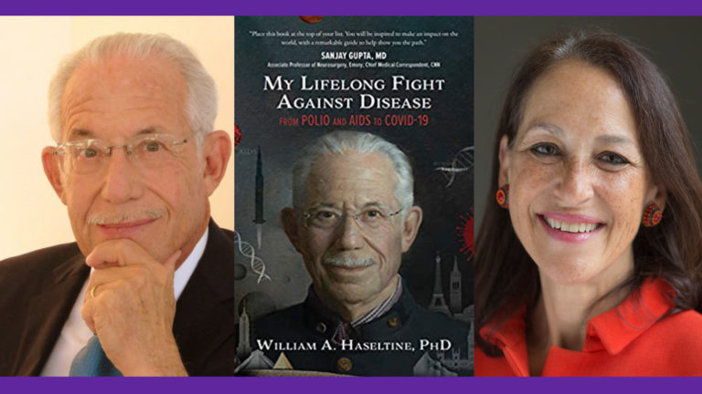 (From left) William A. Haseltine and Margaret Hamburg