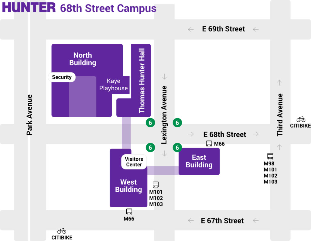 Hunter 68th street campus map