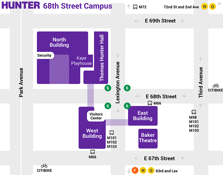 68th street campus map