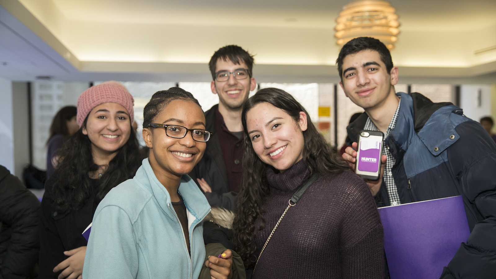 accepted Hunter College students smiling
