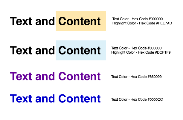 Examples of ADA level 3 compliant colors