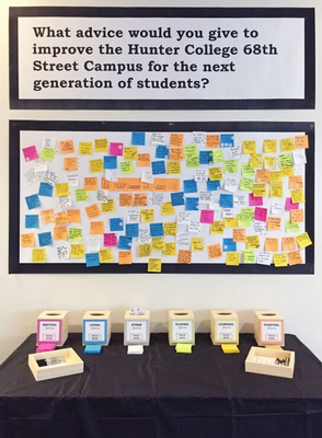 Hunter display requesting improvements for next generation of students