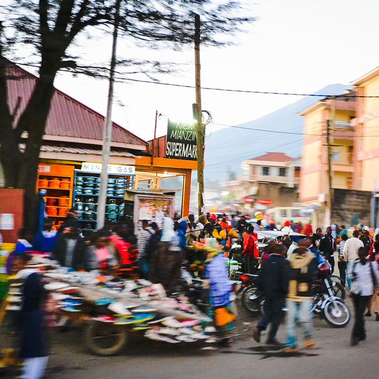 Busy Street in Tanzania