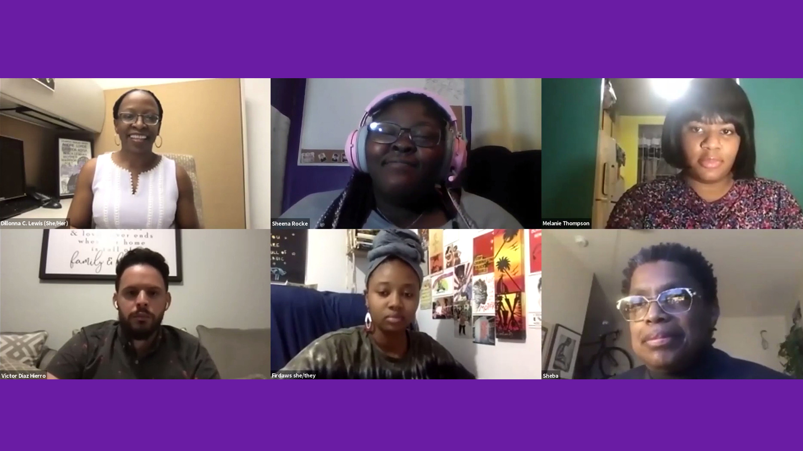 Panelists from March 10th Audre Lorde Now Series