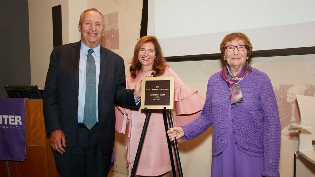 (L-R) Larry Summers, Jennifer J. Raab and Anita Summers.