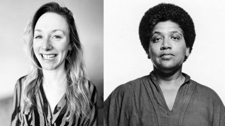 (From left) Katie Winkelstein-Duveneck and Audre Lorde