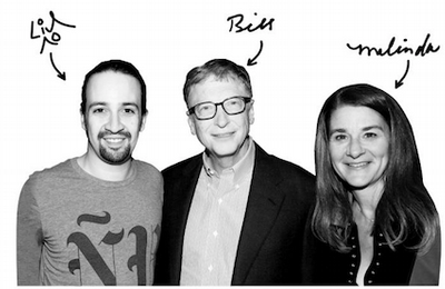 bill and melinda gates event with manuel miranda