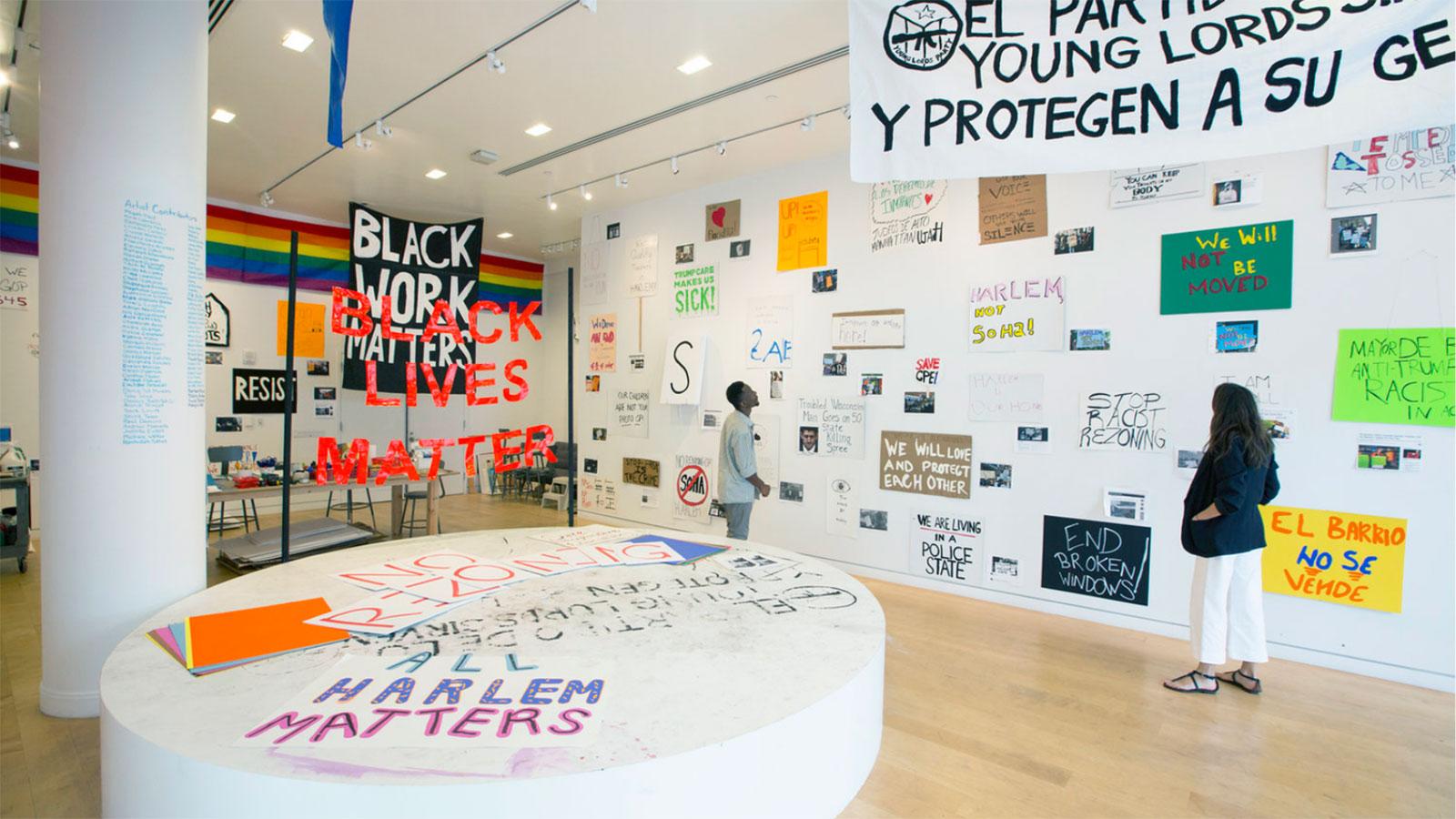 black lives matter exhibit  at harlem gallery