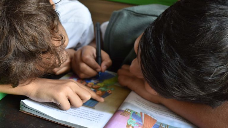 Little boys coloring