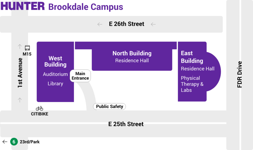 Brookdale Campus Map Hunter College