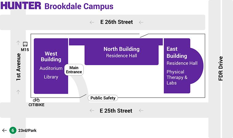 brookdale-campus-map
