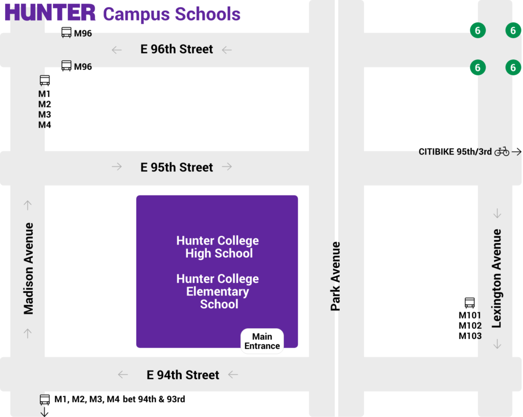 Hunter college campus schools street map