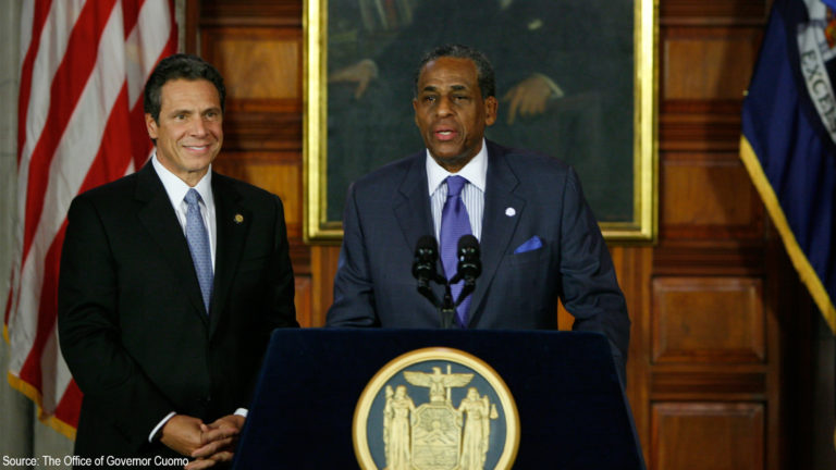 Governor Cuomo and the Honorable Carl McCall.