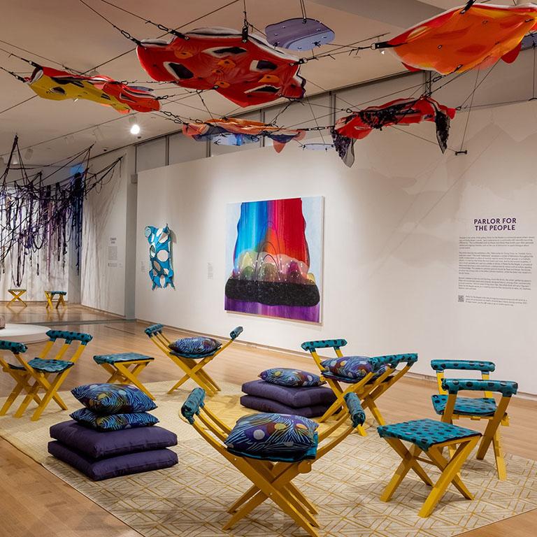 Carrie Moyer's exhibit