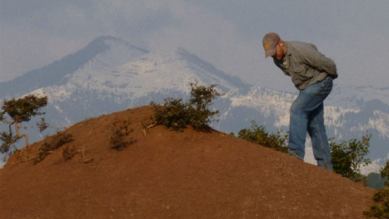 Professor Christopher Gilbert in northern India where the fossil discovery was made.