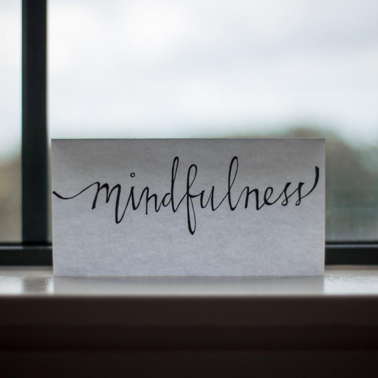 mindfullness hand written