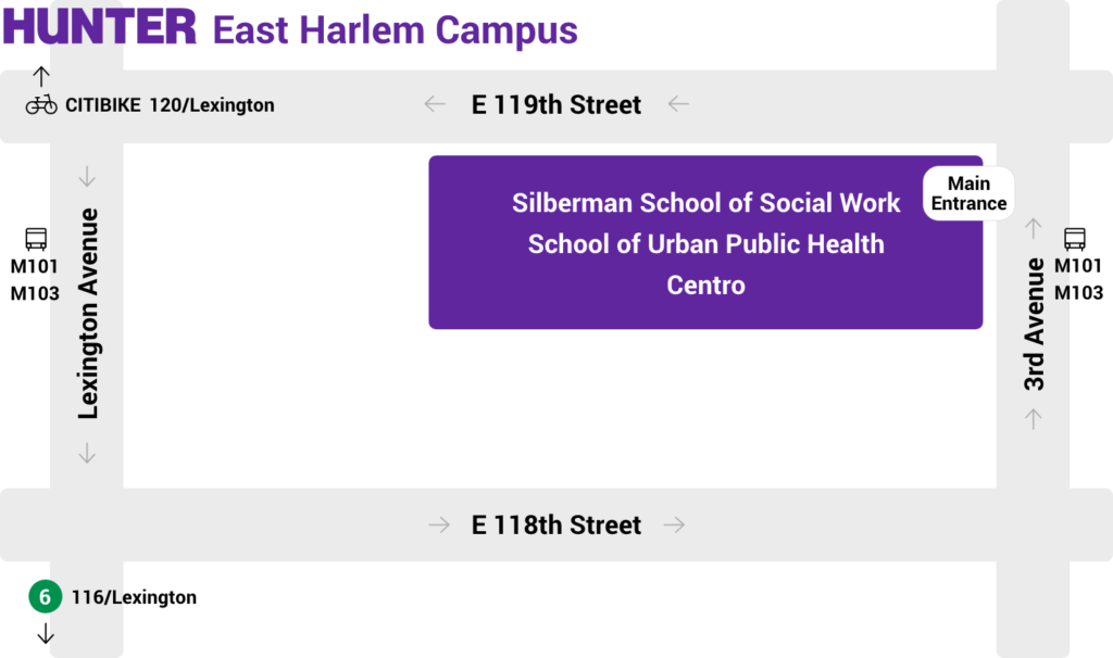 Hunter college east harlem campus map