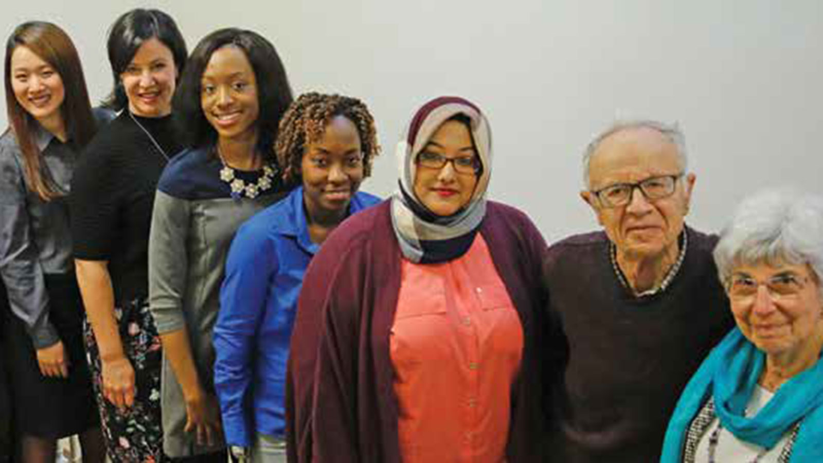 Eva Grove Immigrant Scholarship students