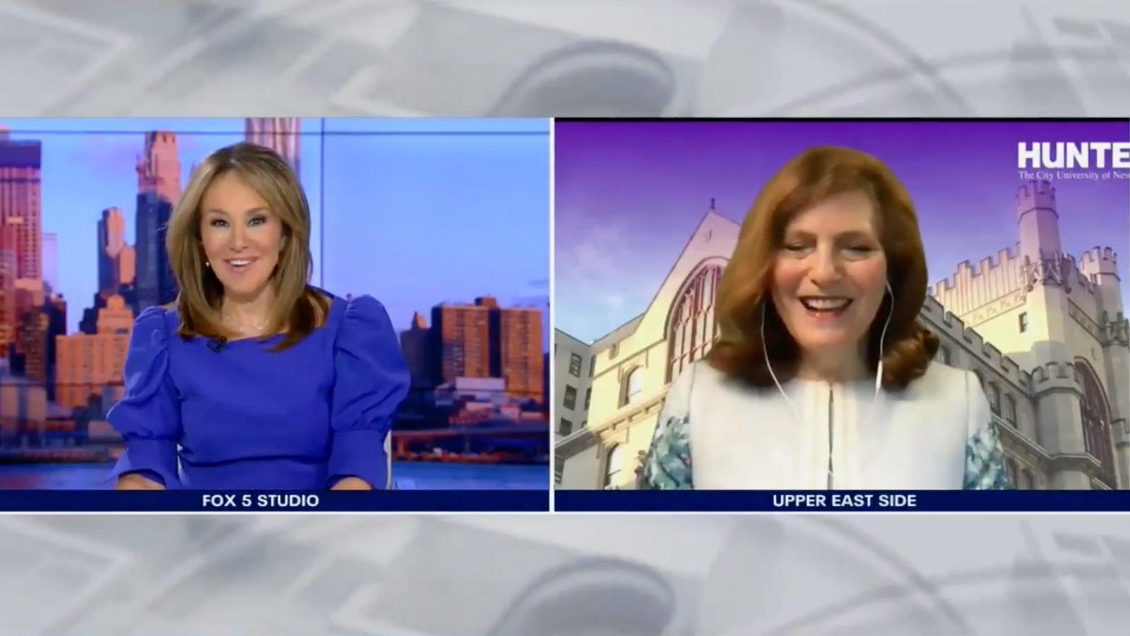 Rosanna Scotto, left, interviews Hunter President Jennifer J. Raab on Good Day New York.