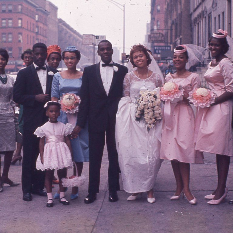 vintage harlem wedding photo