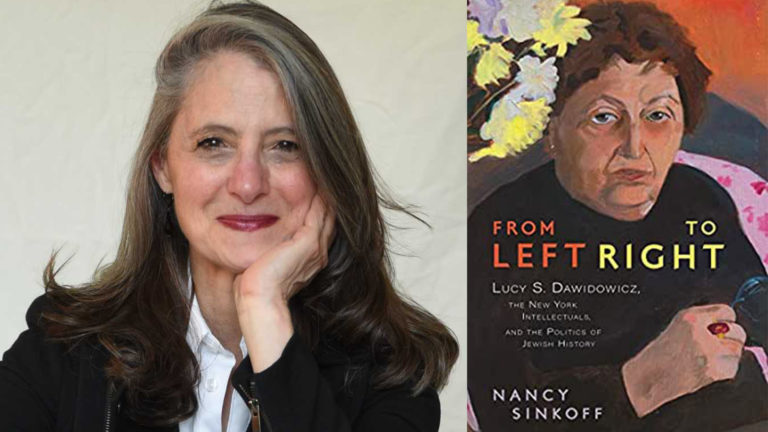 Nancy Sinkoff and the cover of her book