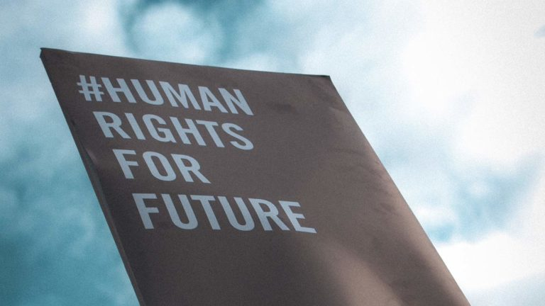 human rights for future banner