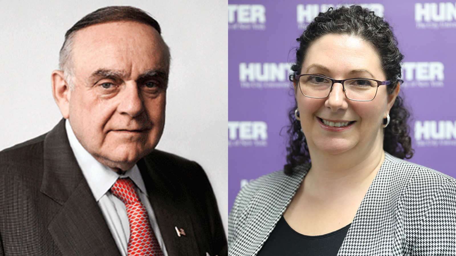 (From left) Leon Cooperman '64 and Arabella Pollack