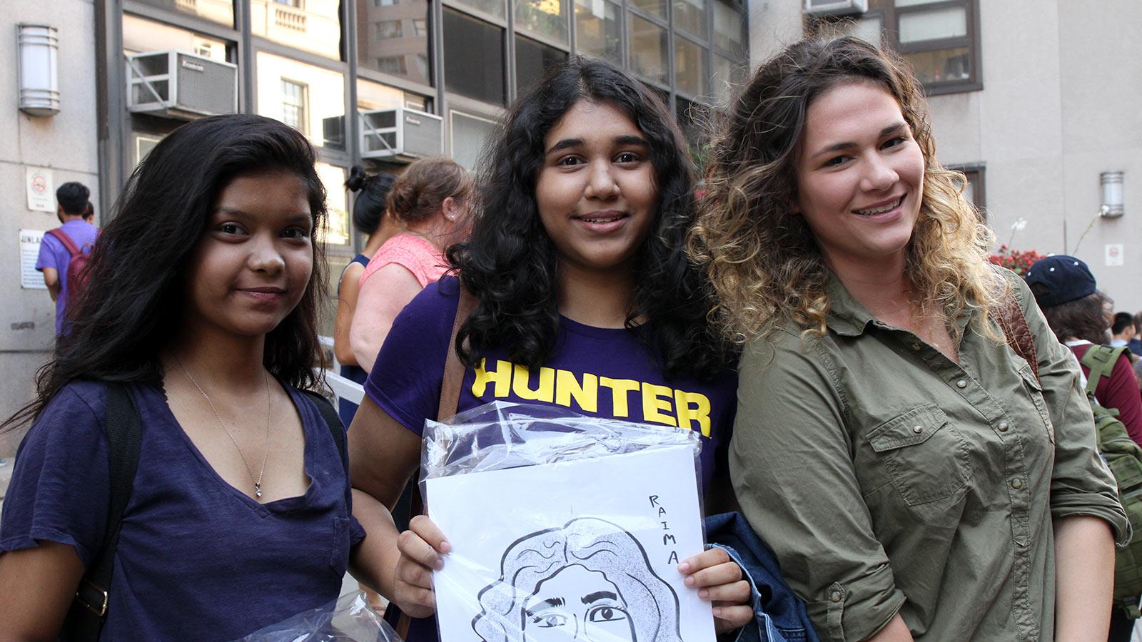 3 happy hunter students