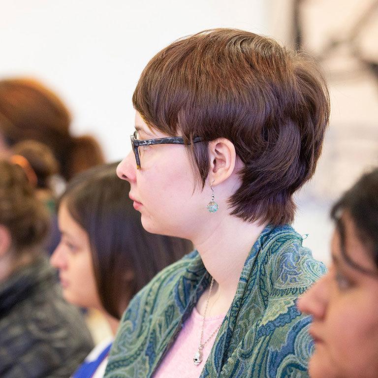 students listening to presenations
