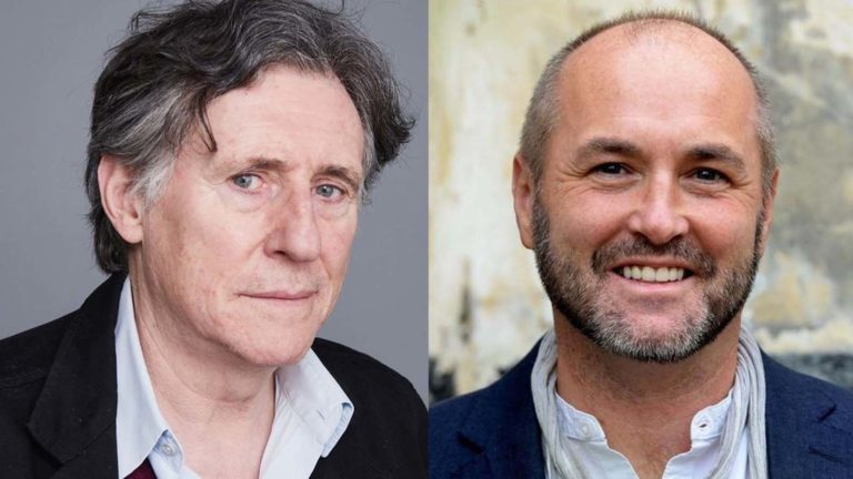 (From left) Gabriel Byrne and Colum McCann