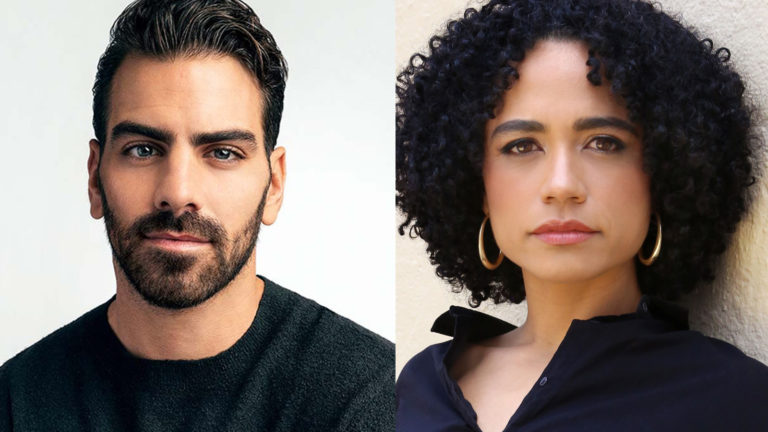 (From left) Nyle DiMarco and Lauren Ridloff.