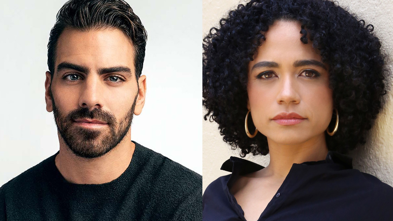 (From left) Nyle DiMarco and Lauren Ridloff