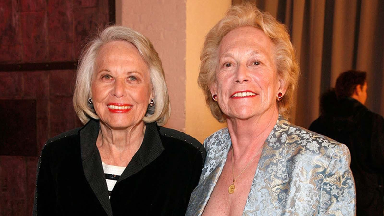 Liz Smith and Iris Love