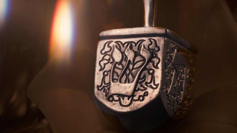 metal dreidel