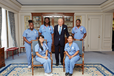lauder with nursing students