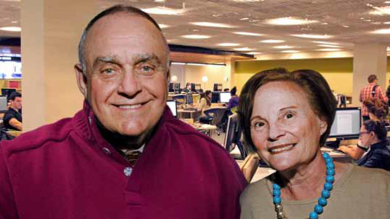 Leon Cooperman and his wife Toby