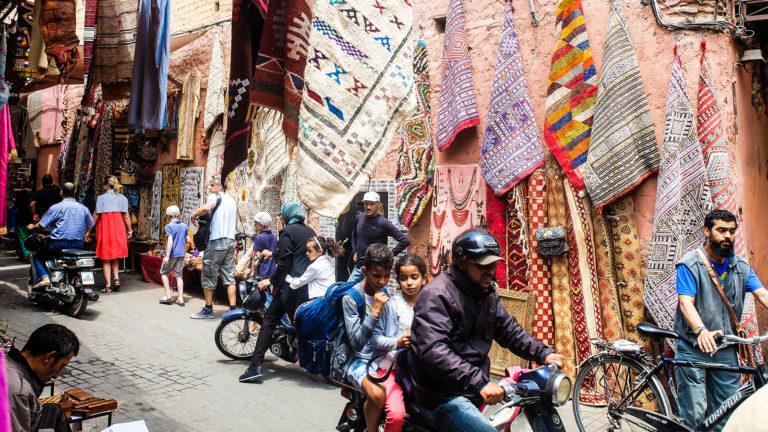 Marrakesh Morocco street scene