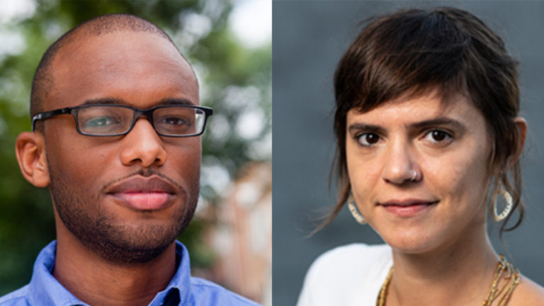 (From left) Mychal Denzel Smith and Valeria Luiselli
