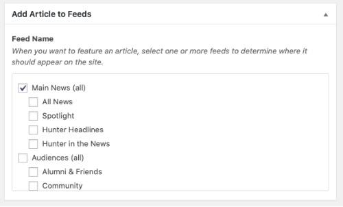 news article feeds field