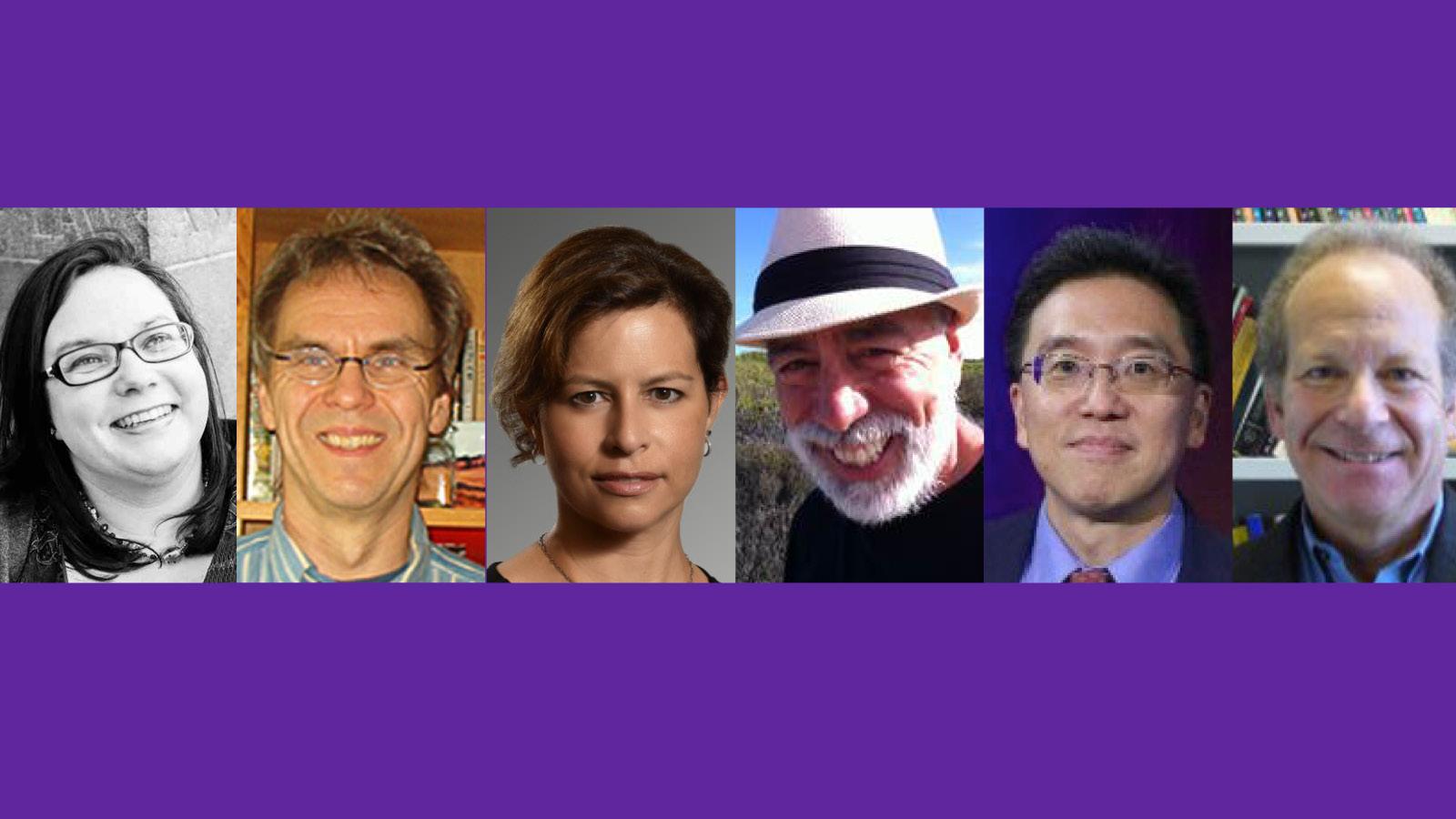 (From left) Erin Mayo-Adam, Rodger Karapin, Lina Newton, Sanford Schram, Charles Tien and John R. Wallach