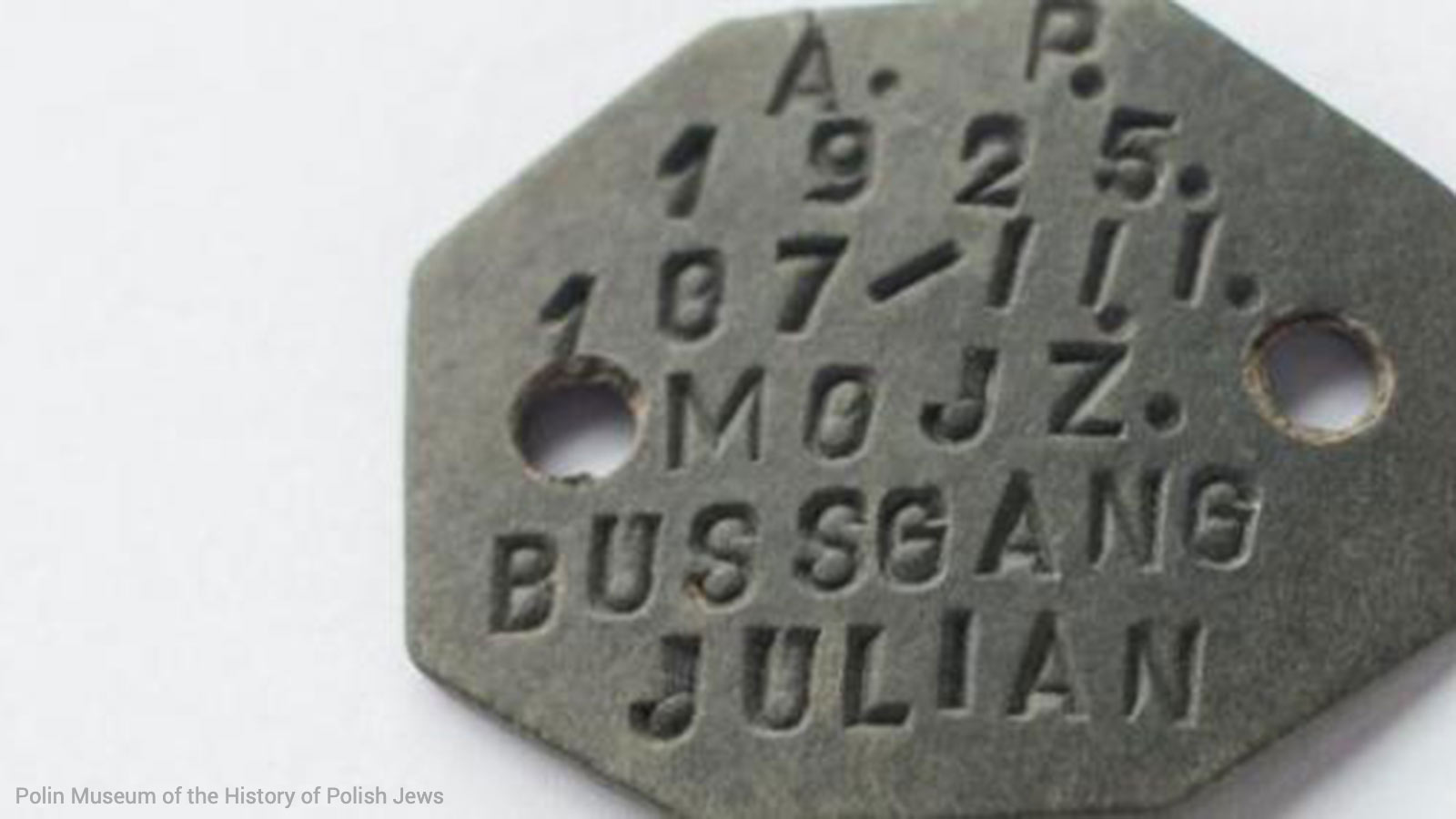 Dog tag of a Polish soldier who fought in the Second World War