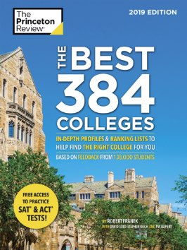 The Princeton Review Best 384 Colleges book cover