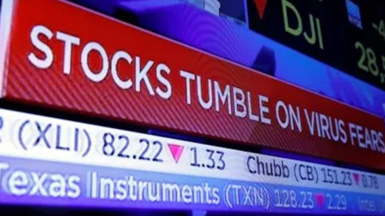 Image of stocks plummeting