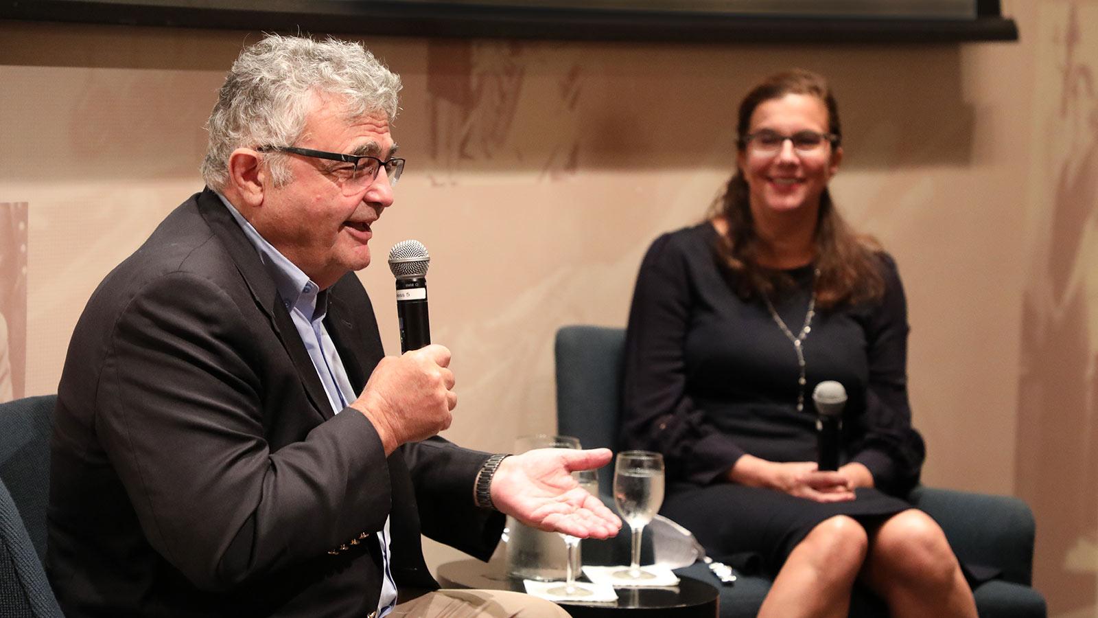 Historian Dr. Samuel Kassow and Professor Leah Garrett, Director of the Jewish Studies Center