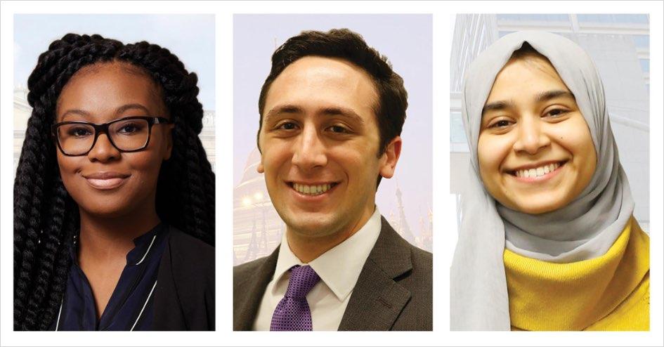 Portraits of Thamara Jean, Matthew Locastro and Safia Mahjebin
