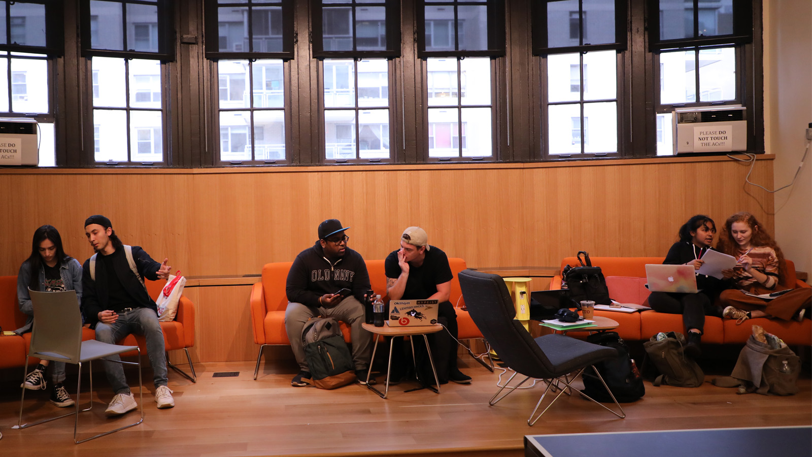 Students relaxing in the new Student Union