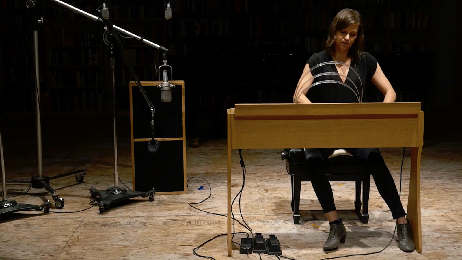 Music Professor Suzanne Farrin in her studio