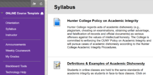 Online Course Template - Syllabus
