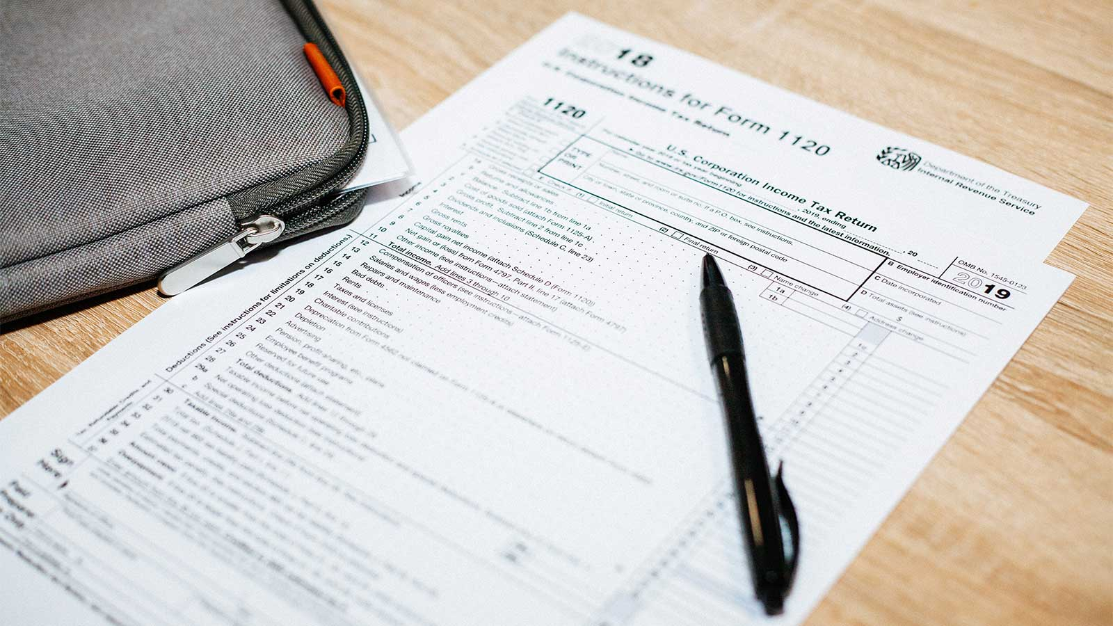tax form on desk